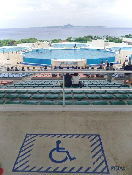 『海洋博公園』海豚劇場-殘障觀眾席