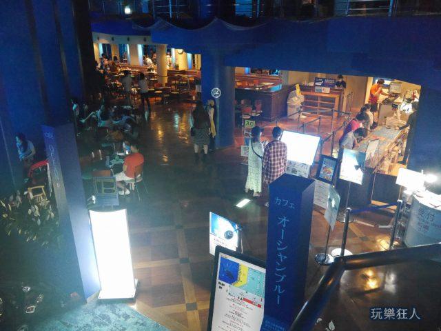 """『海洋博公園』沖繩美麗海水族館-""""海洋藍""""咖啡廳"""