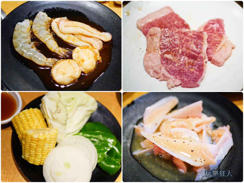 「燒肉王」海鮮、蔬菜、雞軟骨食材
