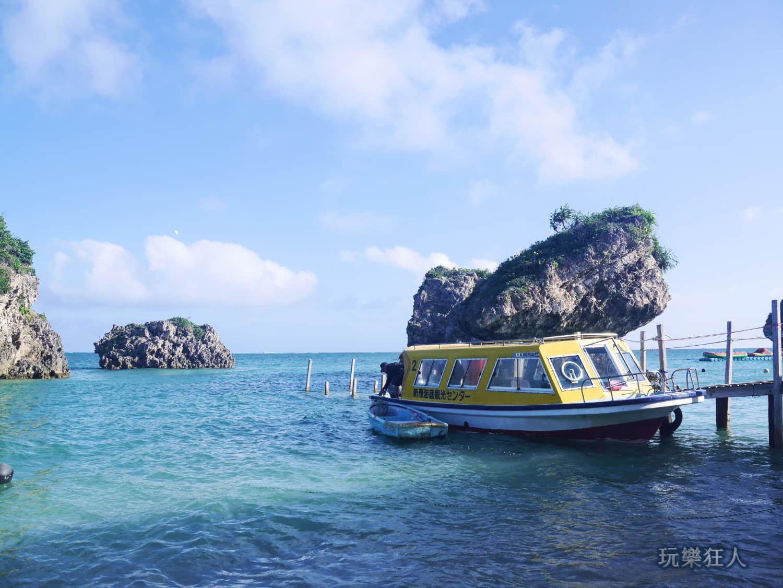 「新原海灘」玻璃底船