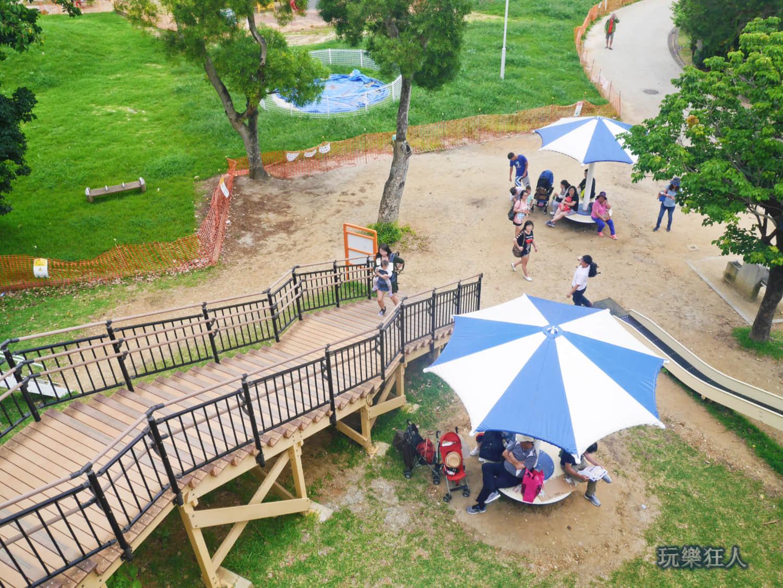 「奥武山公園」溜滑梯俯視