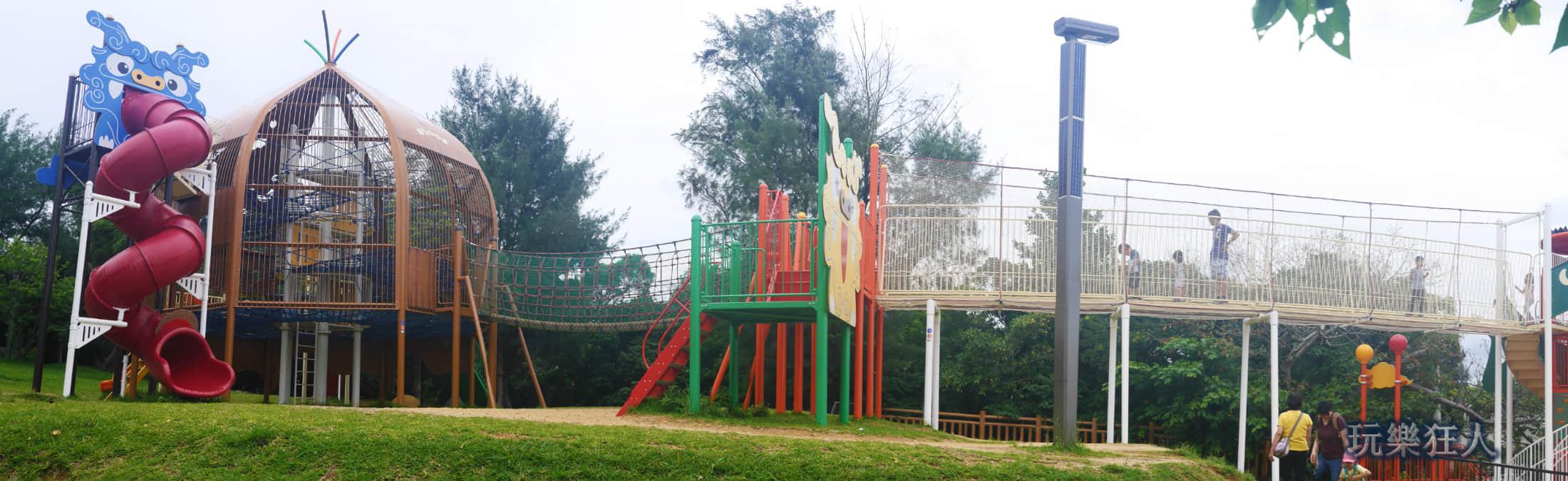 「奥武山公園」山坡上設施
