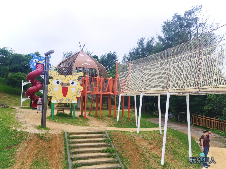 「奥武山公園」吊橋&琉球獅